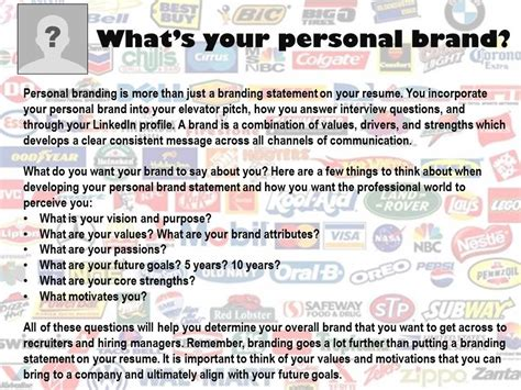 what does extensive experience mean personal branding statement resume resume ideas
