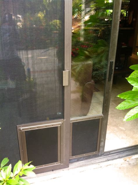 pet door sliding door screen door san diego