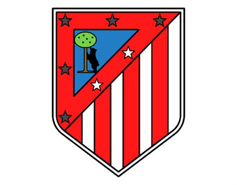 Established in 1903, the seasons from the beginning of the la liga in 1928 to the most recent completed season are. Colored page Atlético Madrid crest painted by User not ...