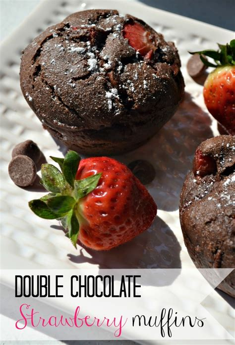 recipes using fresh double chocolate strawberry muffins the domestic geek blog