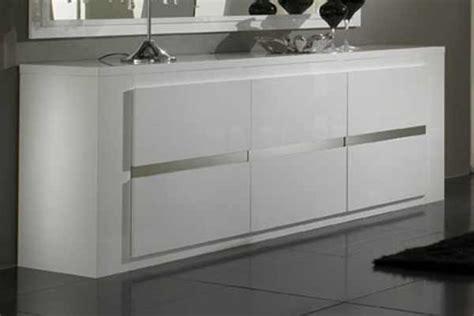 meuble de cuisine pas cher bahut 3 portes tania laque blanc blanc metal
