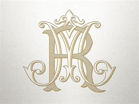 vintage wedding monogram features  rm   wedding monogram   uniquely