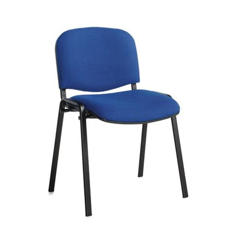 chair conference stackable blk frame blue pk4 meeting