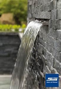 Steinmauer Mit Wasserfall : edelstahl wasserfall bauteil victoria 60 cm garten pinterest garten wasserfall garten und ~ Markanthonyermac.com Haus und Dekorationen