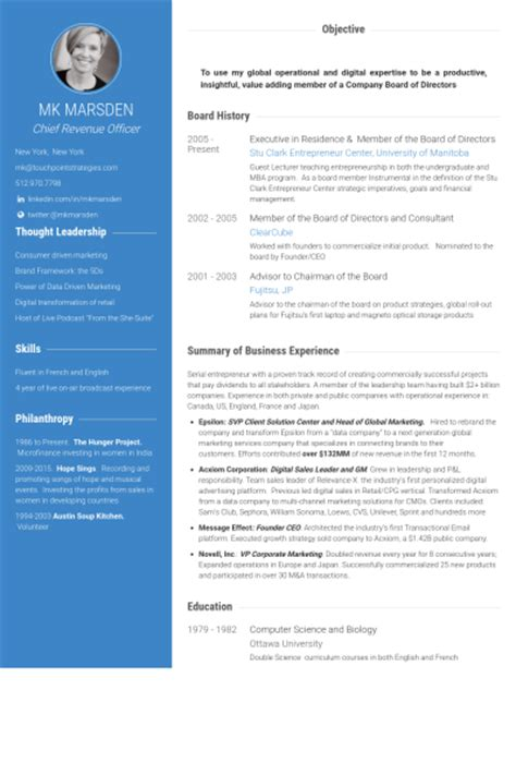 School Board Member Resume by Board Of Directors Resume Sles Visualcv Resume