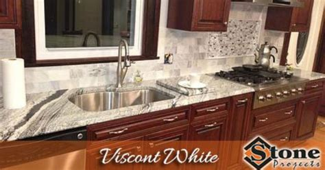 viscont white granite countertops fabricated and installed