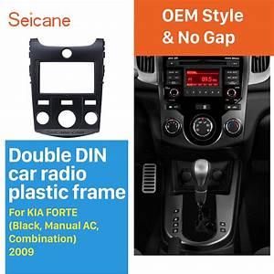 Seicane Black 2 Din Car Radio Fascia For 2009 Kia Forte