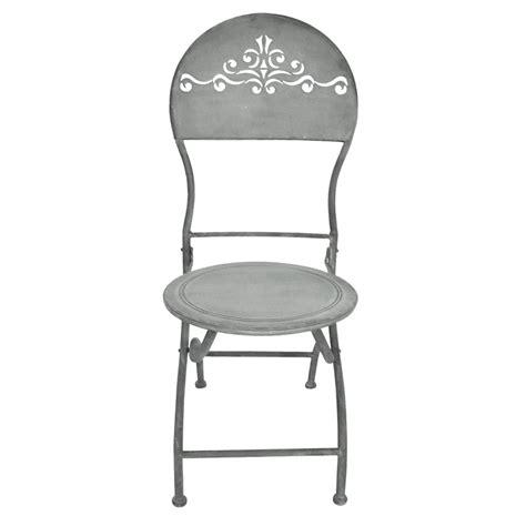 chaise pliante fer forgé chaise pliante en fer forgé dossier ajouré collection quot zinc quot
