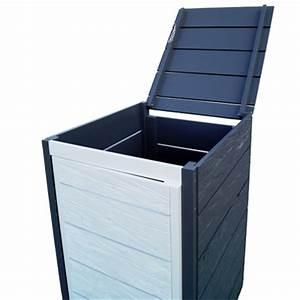 Mülltonnenbox Holz Anthrazit : aktionsartikel m lltonnenbox aus gehacktem holz erfurtholz ~ Whattoseeinmadrid.com Haus und Dekorationen
