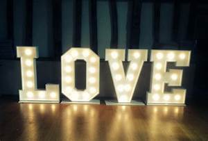 giant love letters for hire With giant stand up letters