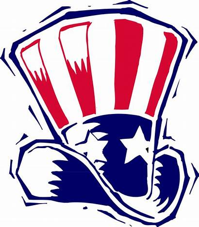 Hat Patriotic Clip Clipart Uncle Sam American