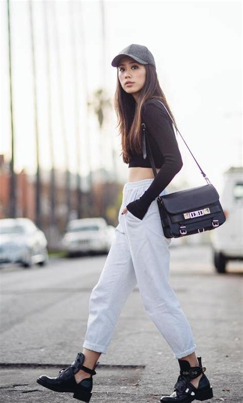 stylish sweat pants outfits