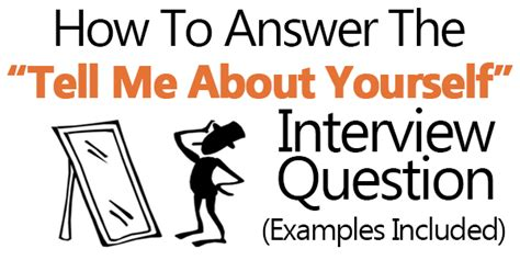 quot tell me about yourself quot answers exles included