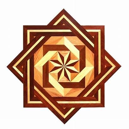 Wood Floor Inlay Medallion Decorative Star Medallions