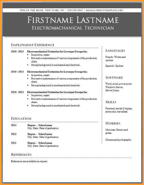 16968 resume template office top result 60 unique sle resume format word file photos