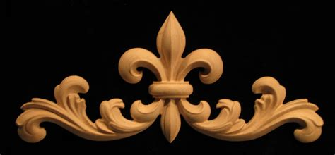 Fleur De Lis Fireplace Screens by Onlay Fleur De Lis 2 With Scrollwork Carved Wood