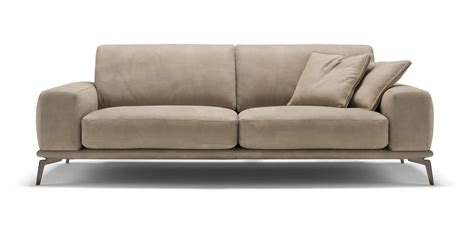 Sofa With Polyurethane Foam And Leather Cushions With