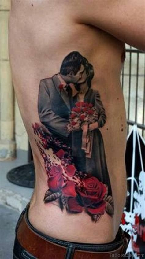 graceful portrait tattoo  rib