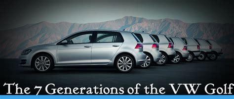 Volkswagen Golf History w Generation Pictures