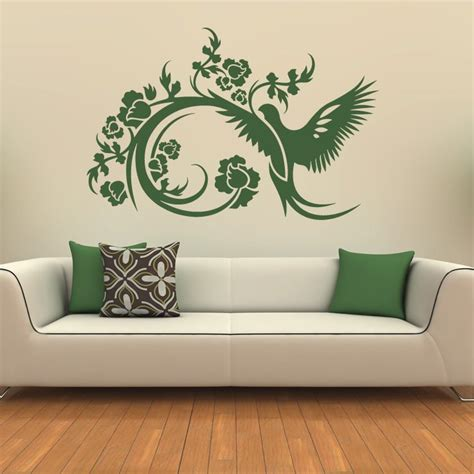 floral decorative bird wall stickers wall decals transfers ebay