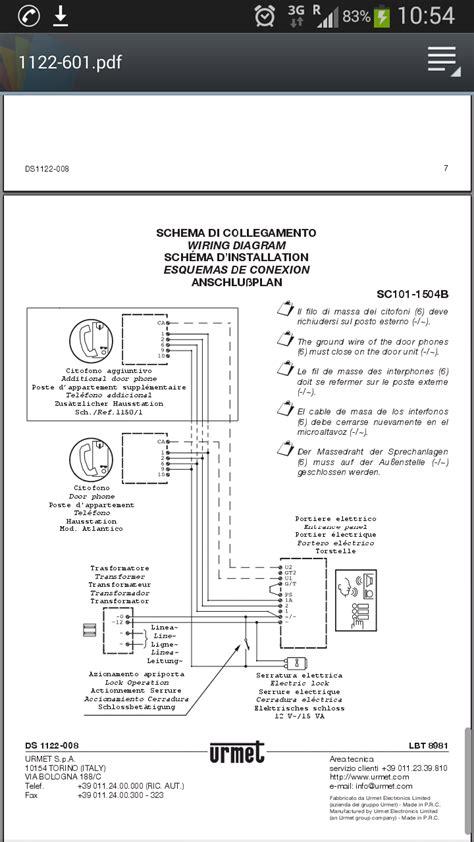 schema collegamento urmet sinthesi schema collegamento buzzer urmet dubbio sistema citofonia