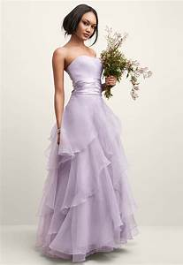 tiered organza ball gown style f14196 bridesmaid soft With purple dress for wedding bridesmaid