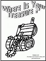Coloring Treasure Heaven Treasures Sheet Box Children Poem Popular Gems Suggested Coloringhome sketch template