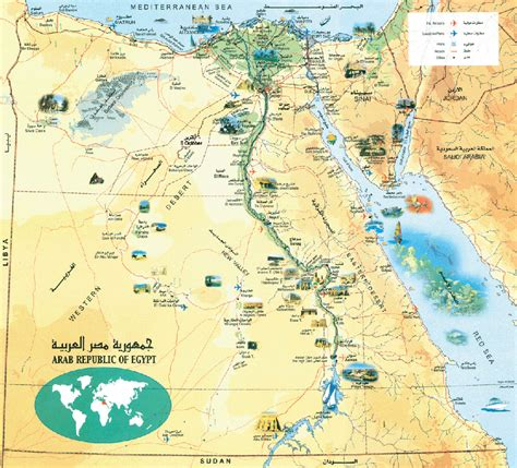 Egypt Map And Egypt Satellite Images