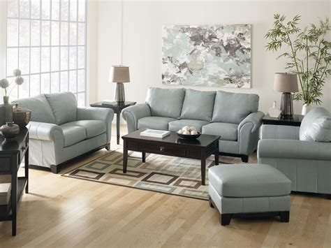 living room decor with leather sofa light blue leather sofa sets for living room decorating