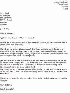 Career Change Cover Letters Business Analyst Cover Letter Example Icover Org Uk