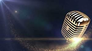 vintage golden microphone Motion Background - VideoBlocks