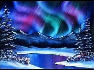 Beginners Learn To Paint Acrylic Aurora Borealis