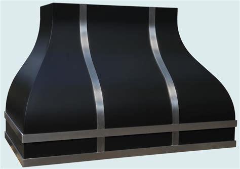 custom kitchen design custom made black range with stainless straps by