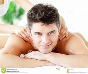 Handsome Man Resting In A Spa Massage Center Stock Image ...