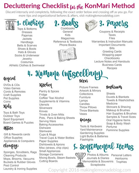 The Ultimate Free Printable Decluttering Checklist For