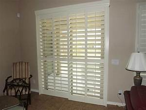 Plantation Shutters For Sliding Doors Spaces Traditional