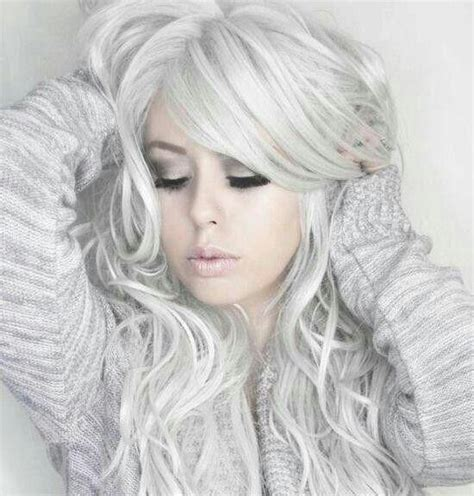 White Hairstyles by Silver White Hair Hairstyles Hair Photo