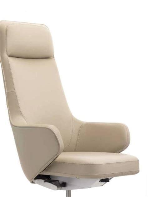 siege de bureau haut de gamme fauteuil de direction en cuir skape highback design par