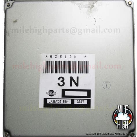 2001 Nissan Sentra Computer by 00 02 Nissan Sentra Engine Computer Ecu 5ze13n Ja56r08