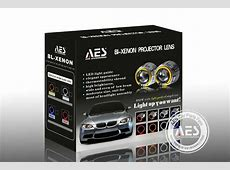 AES new led angel eyes bixenon HID projector lens 12 volt
