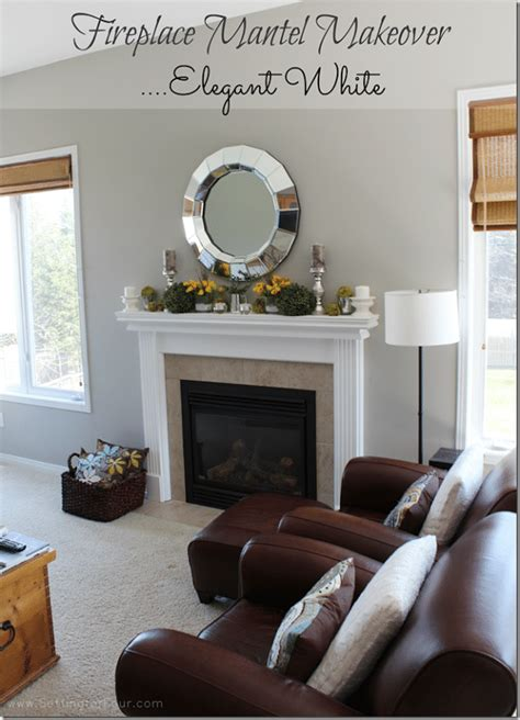 fireplace mantel reveal     makeover