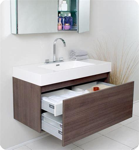 Modern Bathroom Sink Furniture by Floating Vanity Bathroom Gray Walls Suspended Cabinet