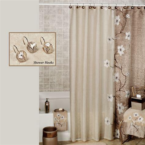 magnolia floral shower curtain  croscill