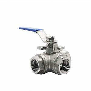 316 Stainless Steel 3 Way Ball Valves With Locking Handle