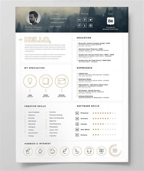 Resume Portfolio by Free Resume Template Icon Resume