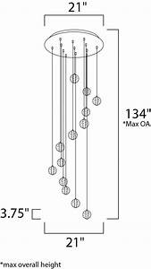 Harmony 13-light Led Rapidjack Pendant And Canopy - Multi-light Pendant