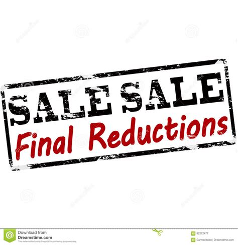 Sale final reductions stock illustration. Illustration of ...