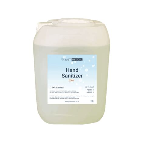 25L Gel Hand Sanitizer 75% Alcohol (Clear Waterless