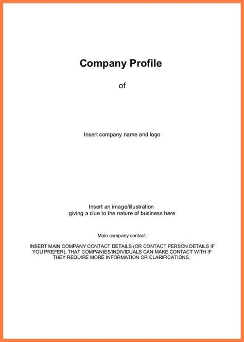 Sle Company Profile Template Pdf by Business Profile On Letterhead 28 Images Company