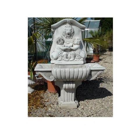 fontaine murale aux angelots en reconstituee le bon vivre